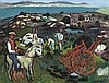 Gerard Dillon (1916-1971) Footing the Turf Oil on
