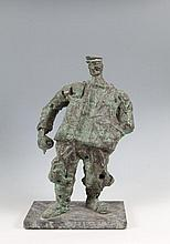John Behan RHA (b.1932) Fisherman Bronze, 48cm high (18¾'') on marble base Dublin sculptor John Behan studied at the National College of Art and Design, Ealing Art College in London and the Royal Academy School in Oslo. In 1967 he became a founding