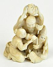 A 19th century Japanese carved ivory netsuke