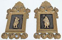 A pair of 19th century German carved ivory