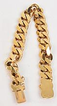 A 9ct gold curb link bracelet, approx 50g.