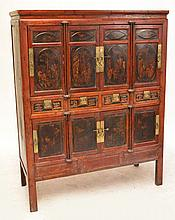 A 19th century Chinese lacquered hardwood marriage