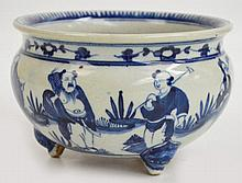 A replica Chinese blue and white bowl decorated