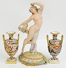 A large late 19th century Continental porcelain