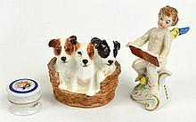 A small Royal Doulton figure group depicting