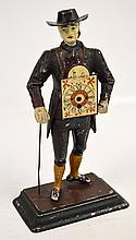 A reproduction American style figural clock on