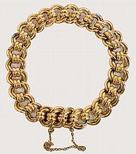 A 15ct gold open link bracelet, approx 19g.