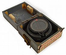 A wooden cased ship's compass; Type P8 no.90160.H.