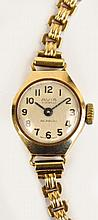A lady's vintage 9ct gold cased Avia wristwatch,