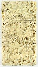 A 19th century Chinese Canton carved ivory
