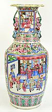 A large 19th century Chinese Famille Rose vase