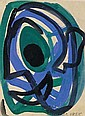 Early abstract gouache (at the age of 15)