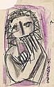Very nice early drawing of a woman (1956)