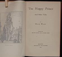 Wilde, Oscar.  The Happy Prince and Other Tales...Illustrated by Walter Crane and Jacomb Hood