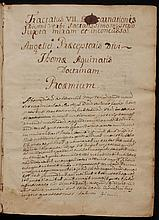 Aquinas, Thomas.  18th century manuscript