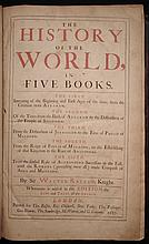 Raleigh, Sir Walter.  The Historie of the World, in Five Books