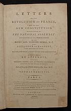Christie, Thomas.  Letters on the Revolution of France and on the New Constitution established by the National Assembly....