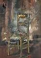 Philippe CARA-COSTEA (né en 1925) La chaise.Huile, Philippe Cara-Costea, Click for value