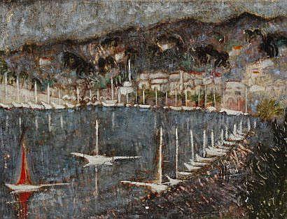 Yvonne APPENNINI (1928-1988) Port méditerranéen,