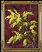 Ejsmond Stanisław - MIMOSA TWIG, BEFORE 1935, oil, canvas on cardboard