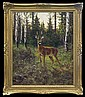 Majewicz Georg (George) - ROE DEER IN A FOREST, oil, canvas