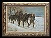 Kossak Jerzy - UHLANS PATROL, 1927, oil, cardboard