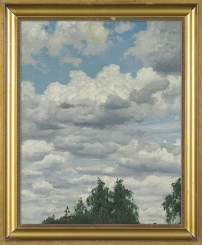 Rapacki Józef - CLOUDS, 1922, oil, canvas on cardboard