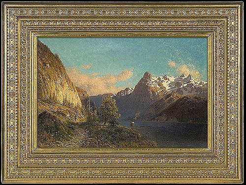 Świeszewski Aleksander - ALPEN FOUR KANTON SEE, 1889, oil, canvas