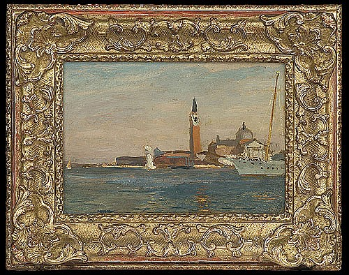 Stanisławski Jan - WENICE. THE CHURCH OF SAN GIORGIO MAGGIORE, 1904, oil, cardboard