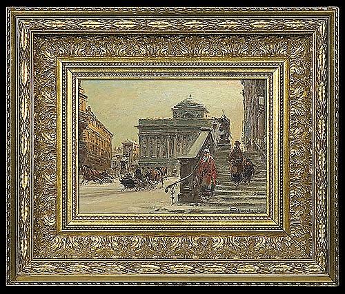 Chmieliński (Stachowicz) Władysław - WARSAW. KRAKOWSKIE PRZEDMIEŚCIE, oil, canvas
