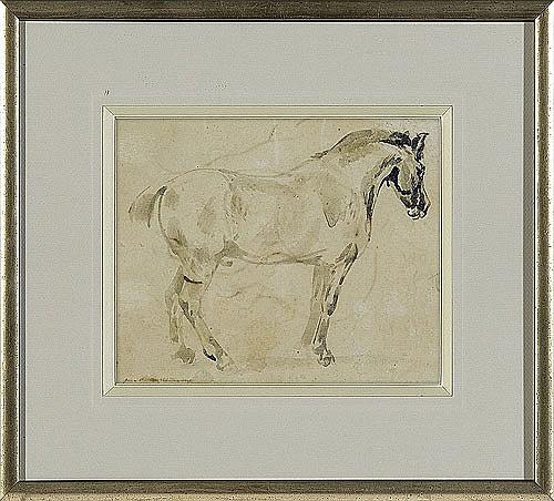 Michałowski Piotr - HORSE, watercolour, paper