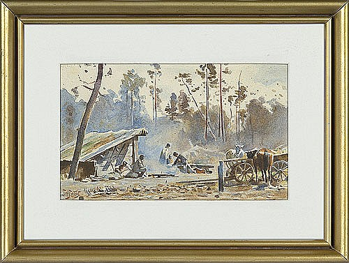 Fałat Julian - HUNTING REST, C. 1889, watercolour, paper