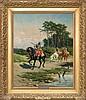 Szerner Władysław - TROOPERS ON THE WAY, CIRCA 1885-1890, oil, canvas