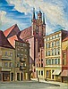 Karniej Edward - CHURCH OF ST. MARY ASSUMPTION IN TORUN, 1940, oil, cardboard