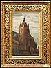 Mackiewicz Konstanty - CATHEDRAL IN PRAGUE, oil, cardboard