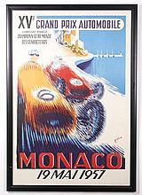 Mid-Century Style Monaco Grand Prix Racing Poster