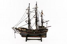 Carved Model of CT Navy Ship Oliver Cromwell