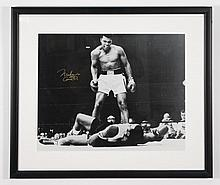 Ali vs. Liston II, B/W Photo, Signed Muhammad Ali