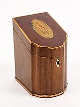 Diminutive Tea Caddy in Form of Knife Box
