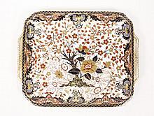 Royal Crown Darby Porcelain Tea Tray, L. 19th C.