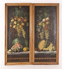 M. Meucci, Pair of 19th C. Italian Still Lifes,