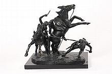 Clemente Spampinato Signed Bronze Battle Scene
