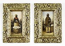 Pair of William Aiken Walker Figural Oils on Wood