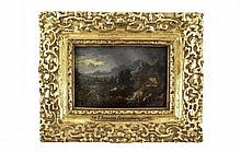 Attr. to Gainsborough, Stormy Landscape Oil