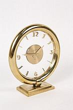 Jaeger-LeCoultre Art Deco Gilt Brass Mantel Clock