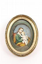 Devotional Painting of St. Joseph & Christ Child