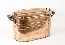 Early 20th Century Lidded Copper Wash Basin