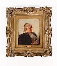 Oil Portrait of A Distinguished Elderly Woman