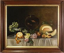 American Still Life w/Fishbowl Oil on Canvas