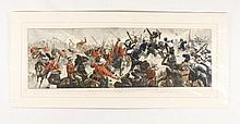 Hand Colored Print of Battle of Tamasi, Sudan War